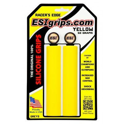 Poignées ESI Grips Racer's Edge silicone 30 mm Jaune