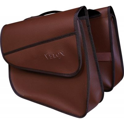 Sacoches arrière pour porte-bagages VELOX Marron (la paire)