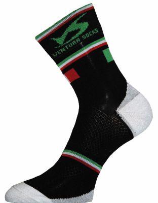 Chaussettes Ventura Socks Carbone Nation Italie Noir