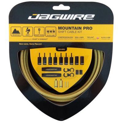 Kit complet câbles et gaines dérailleur Jagwire Mountain Pro - Or MCK225