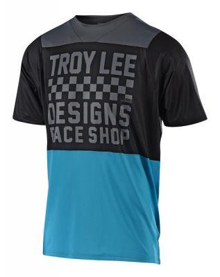 Maillot Troy Lee Designs Skyline Air Checker Ocean/Noir