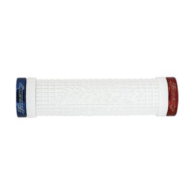 Poignées Lizard Skins Lock-On Peaty Cheers Blanc/Rouge/Bleu
