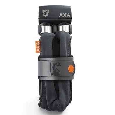 Antivol pliable AXA Foldable 800 à clé 100 cm avec support Gris