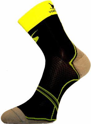 Chaussettes Ventura Socks Carbone Classic Noir/Jaune fluo
