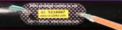 Marquage antivol RECOBIKE (Pose comprise)