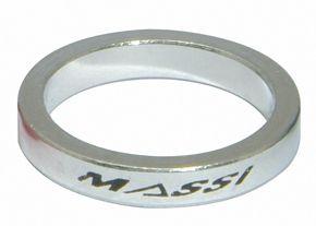 """Entretoises de direction Massi 1"""" 5 mm Argent (x4)"""