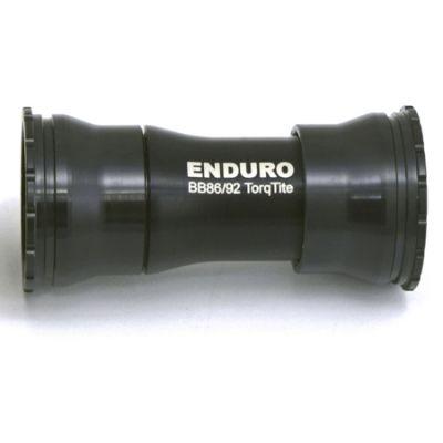 Boitier de pédalier Enduro Bearings TorqTite BKS-0121 A/C SS BB86/92 Axe 24 mm Noir
