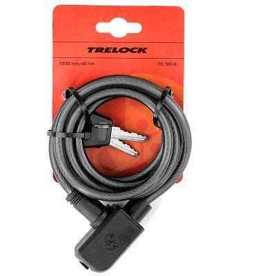 Antivol vélo spirale Trelock Aktion à clé 1,80 m x 8 mm Noir