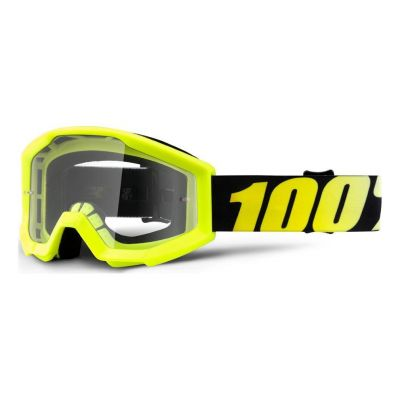 Masque 100% Strata Enfant Neon Yellow/Clear