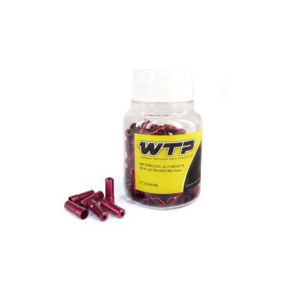 Embouts de gaine WTP aluminium rouge 5 mm (boîte de 100)