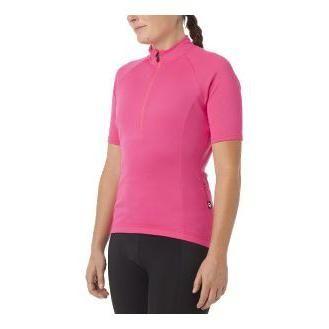 Maillot Giro Chrono Sport 1/2 zip Femme Rose