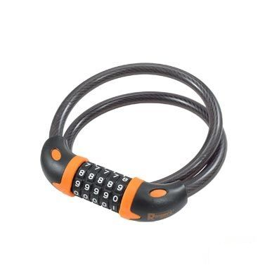 Antivol Rangers à spirale Code D.12 x 0.80 m Noir/Orange (Support inclus)
