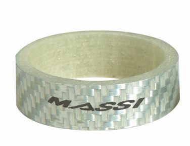 """Entretoises de direction Massi Silver Carbon 10 mm 1.1/8"""" (x5)"""