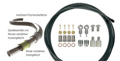 Durite p.frein hydraulique XLC BR-X63 2500 mm Noir