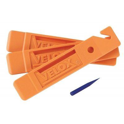 Jeu de démonte-pneus VELOX (x3) + extracteur de silex Orange