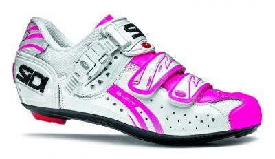 Chaussures Sidi GENIUS 5-FIT Carbon WOMAN Vernice blanc/rose