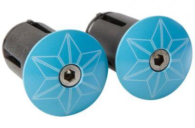 Bouchons de cintre Supacaz Star Plugz Bleu Fluo