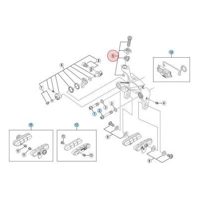 Vis De Réglage De Tension Shimano BR-9000