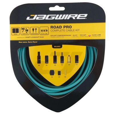 Kit complet câbles et gaines Jagwire Road Pro - Vert Céleste Bianchi RCK010