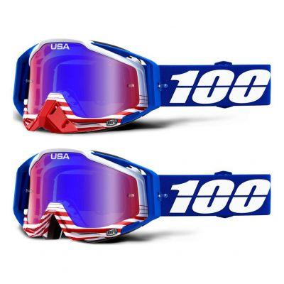 Masque 100% Racecraft Anthem/ Red Blue