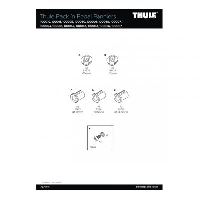 Entretoises Thule Pack'n Pedal Panniers 12mm - 52614