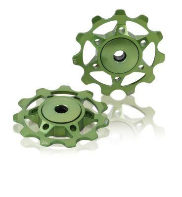 Galets de dérailleur XLC PU-A02 Vert Citron