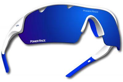 Lunettes Power Race Falcon photochromiques (5 verres) Blanc/Bleu