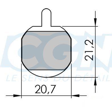 Plaquettes de frein 16 Clarks comp. Hayes Gx-c / MX-2 / 3 Organique