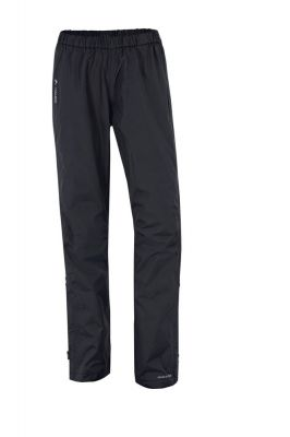Pantalon imperméable Vaude Women's Fluid Full-Zip Noir