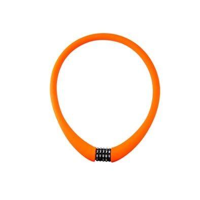 Antivol cable à code 22 x 1.00 m Rangers 100 % silicone Orange