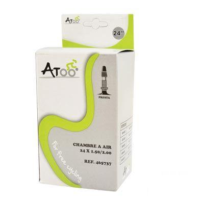 Chambre à air ATOO 24 x 1.75/2.00 Presta 40 mm