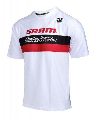 Maillot Troy Lee Designs Skyline Air SRAM Racing Blanc