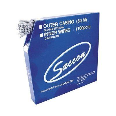 Câble de frein route Saccon acier galva 1.5x1800 mm (Boîte de 100)