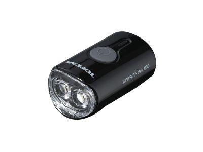 Éclairage avant vélo Topeak WhiteLite Mini USB 60 Lumens Noir