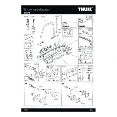 Boucle de fixation pour sangle de roue Thule 917,918 - 52682