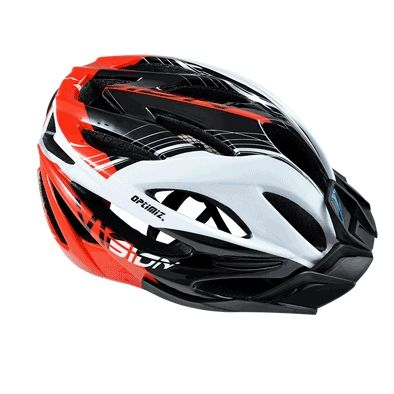 Casque Optimiz Vision Blanc/Rouge