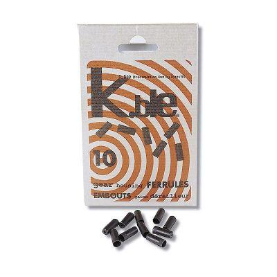 Arrêt de gaine de dérailleur Transfil K.ble autobloquant 4 mm Noir (10 unités)
