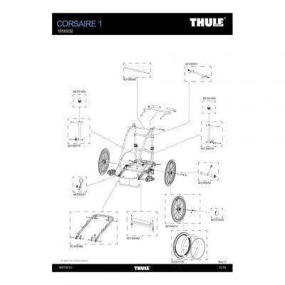 Cache d'axe de roue Thule - 50101445