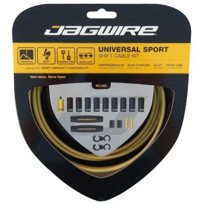 Kit câble et gaîne de dérailleur Jagwire Universal Sport - Or UCK216