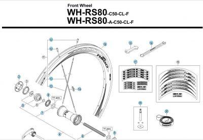 Écrou de rayon Shimano WH-RS10 Argent