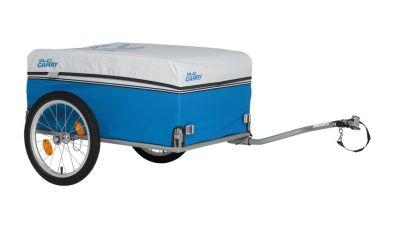"""Remorque vélo XLC Carry Van BS-L03 16"""" à timon latéral Bleu/Argent"""