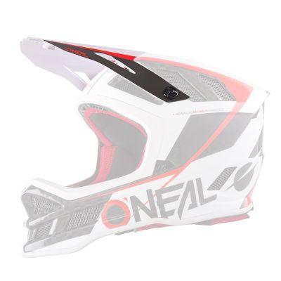 Visière de rechange O'Neal Blade Carbon GM Signature Blanc/Rouge