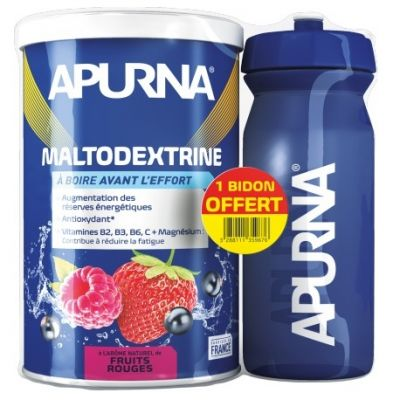 Maltodextrine Apurna Fruits Rouges 500 g + 1 Bidon