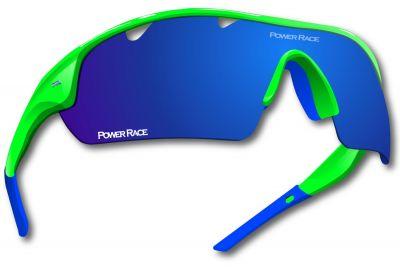 Lunettes Power Race Falcon photochromiques (5 verres) Vert fluo/Bleu