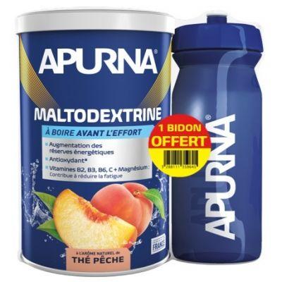 Maltodextrine Apurna Thé Pêche 500 g + 1 Bidon