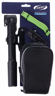 Kit sacoche de selle BBB Saddlebag CombiPack M + pompe + outils - BSB-52