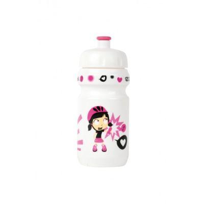 Bidon enfant Zéfal Z-Girl 350 ml + Clip Blanc/Rose