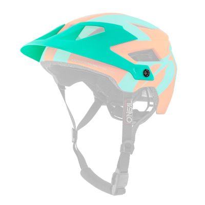 Visière de rechange O'Neal Defender 2.0 Silver Orange/Teal