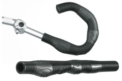 Poignées Ergotec Buffalo pour cintre ajustable AHS 410 mm (Paire) Noir