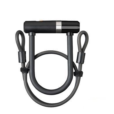 Antivol U AXA Newton Mini 150 mm + câble à boucles 8 mm x 1 m avec support